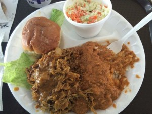Pulled Pork Platter at Roberts Bar B Que